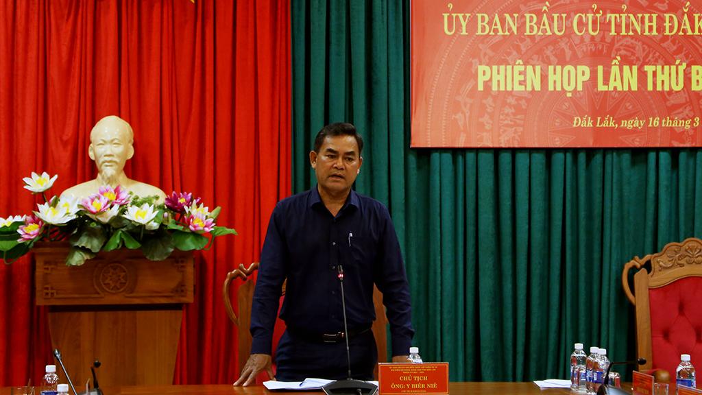 Ủy ban Bầu cử tỉnh họp phiên thứ ba