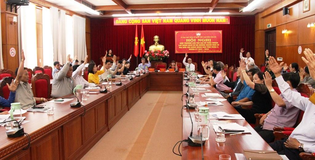 Hội nghị hiệp thương lần 2 thỏa thuận danh sách sơ bộ người ứng cử đại biểu HĐND tỉnh khóa X, nhiệm kỳ 2021-2026