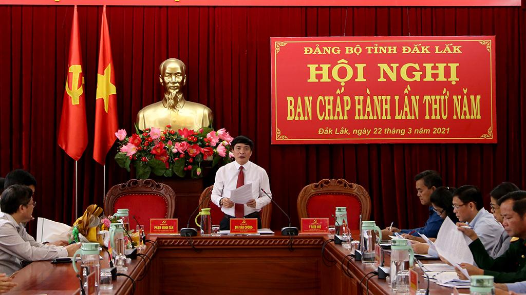 Hội nghị Ban Chấp hành Đảng bộ tỉnh lần thứ 5