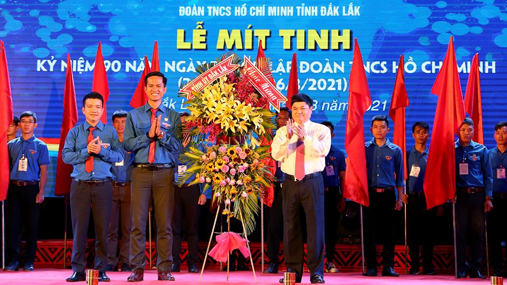 Lễ mít tinh kỷ niệm 90 năm Ngày thành lập Đoàn TNCS Hồ Chí Minh