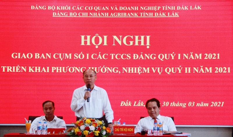 Cụm số 1, Đảng bộ Khối cơ quan và doanh nghiệp tỉnh triển khai nhiệm vụ quý II/2021