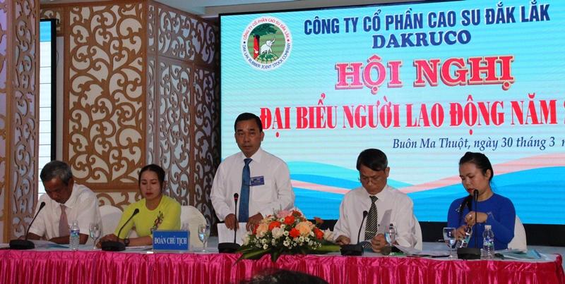 Công ty Cổ phần cao su Đắk Lắk tổ chức Hội nghị đại biểu người lao động năm 2021