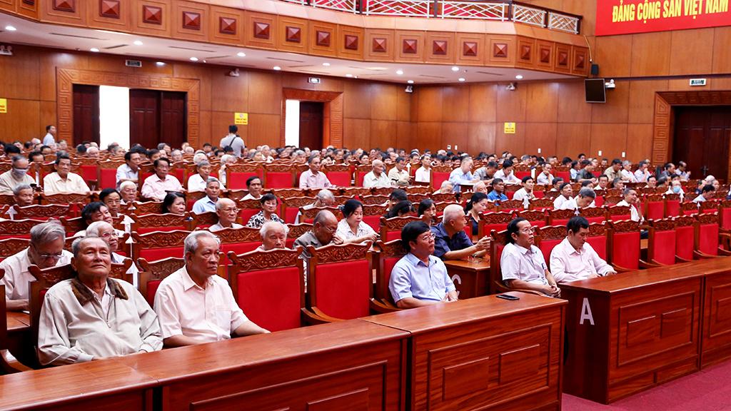 Hội nghị thông tin tình hình thời sự cho cán bộ hưu trí thuộc Tỉnh ủy quản lý