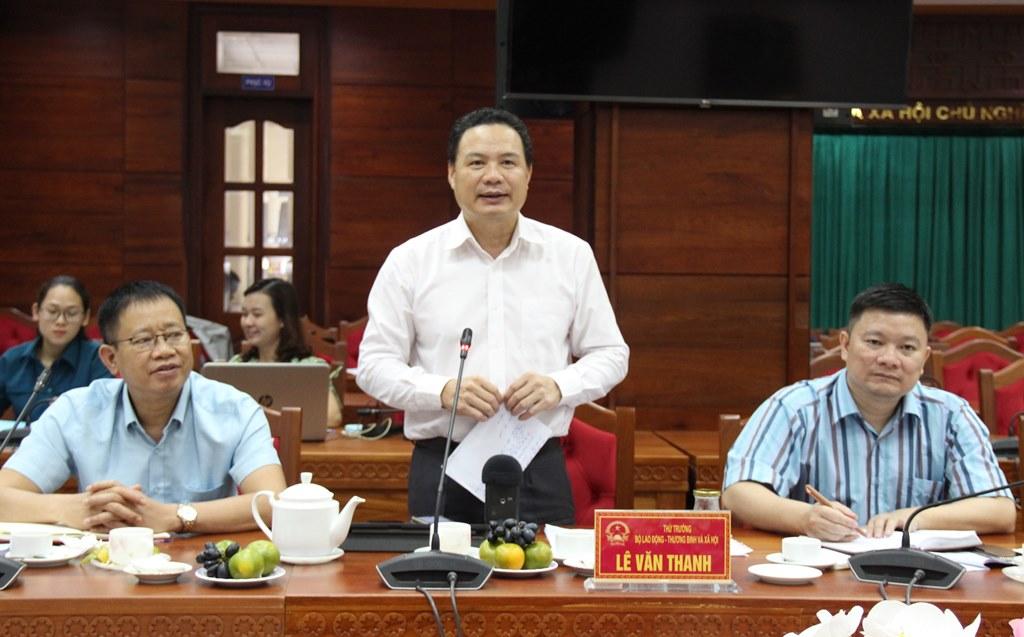 Đoàn công tác của Bộ Lao động, Thương binh và Xã hội làm việc tại tỉnh