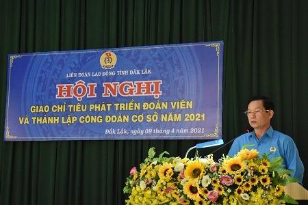 Liên đoàn Lao động tỉnh Đắk Lắk đặt mục tiêu phát triển hơn 3.200 đoàn viên