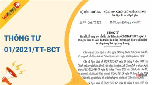 Triển khai Thông tư số 01/2021/TT-BCT ngày 31/3/2021 của Bộ trưởng Bộ Công Thương