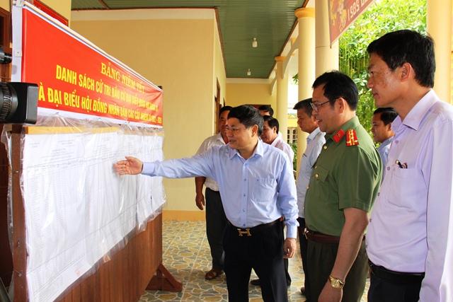 Thường trực Tỉnh ủy kiểm tra công tác bầu cử tai huyện Ea Súp
