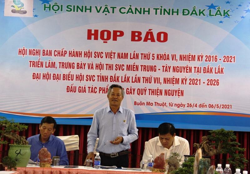 Hội Sinh vật cảnh Đắk Lắk họp báo thông tin về các hoạt động tiêu biểu