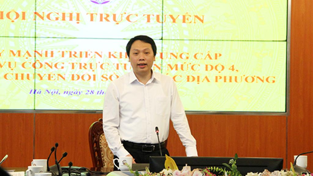 Hội nghị trực tuyến đẩy mạnh cung cấp dịch vụ công trực tuyến mức độ 4