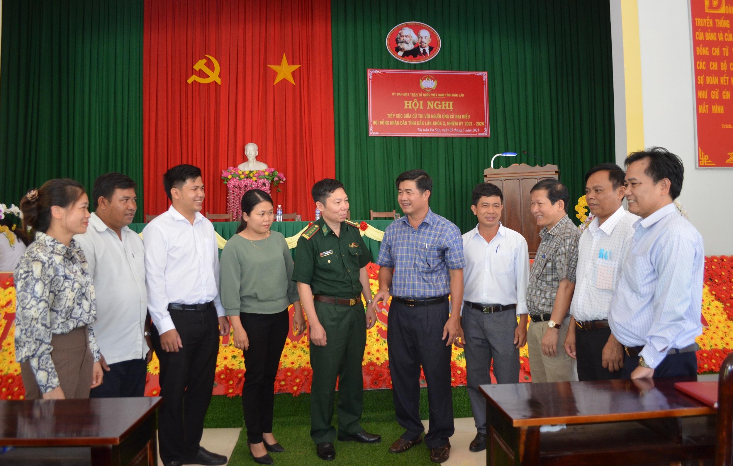 Tiếp xúc giữa cử tri với người ứng cử đại biểu HĐND tỉnh Đắk Lắk nhiệm kỳ 2021-2026 tại huyện Ea Súp