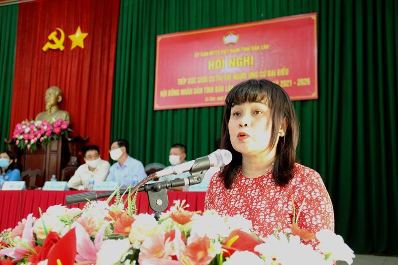 Ứng cử viên đại biểu HĐND tỉnh khóa X tiếp xúc cử tri phường Ea Tam