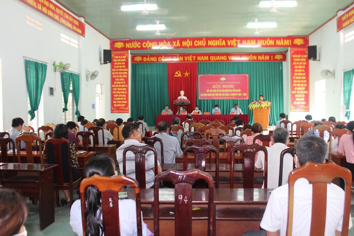 Hội nghị tiếp xúc giữa cử tri với người ứng cử đại biểu HĐND tỉnh Đắk Lắk, khóa X, Nhiệm kỳ (2021 – 2026)