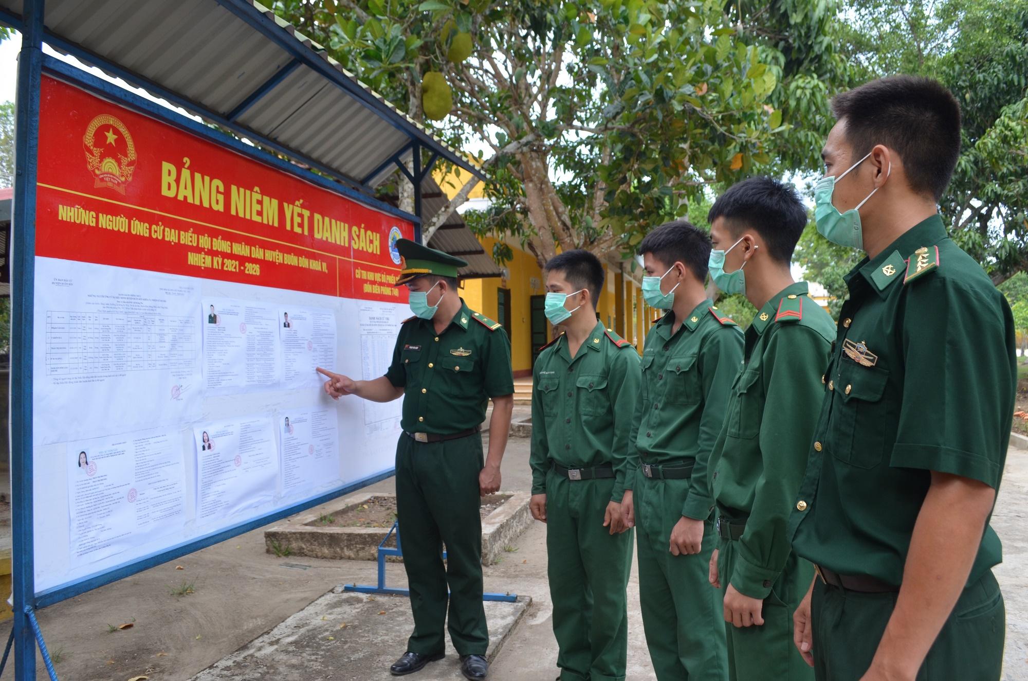 Bộ đội Biên phòng tỉnh Đắk Lắk sẵn sàng cho bầu cử sớm
