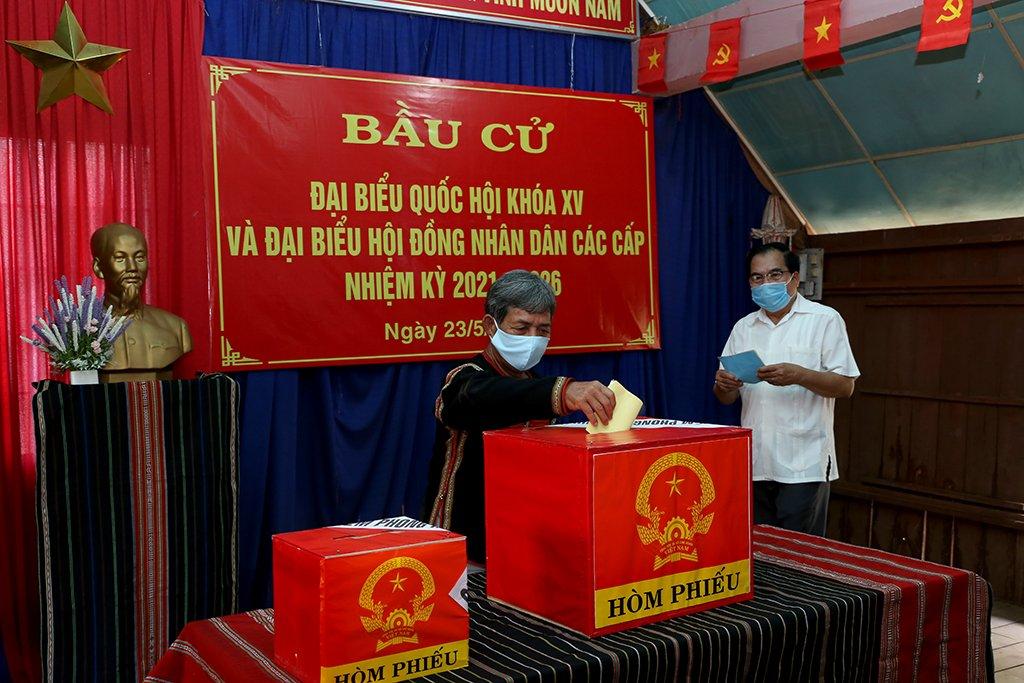 Tỷ lệ cử tri Đắk Lắk đi bầu cử đạt 99,70%