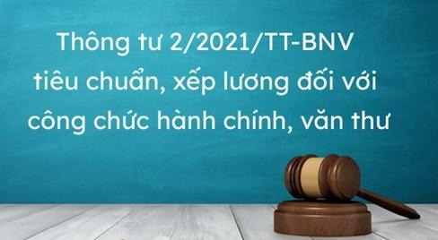Thực hiện Thông tư số 02/2021/TT-BNV ngày 11/6/2021 của Bộ Nội vụ