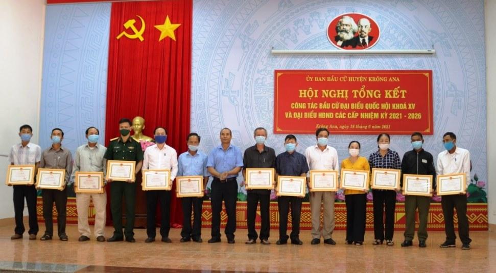Huyện Krông Ana: Tổng kết công tác bầu cử đại biểu Quốc hội khoá XV và đại biểu HĐND các cấp