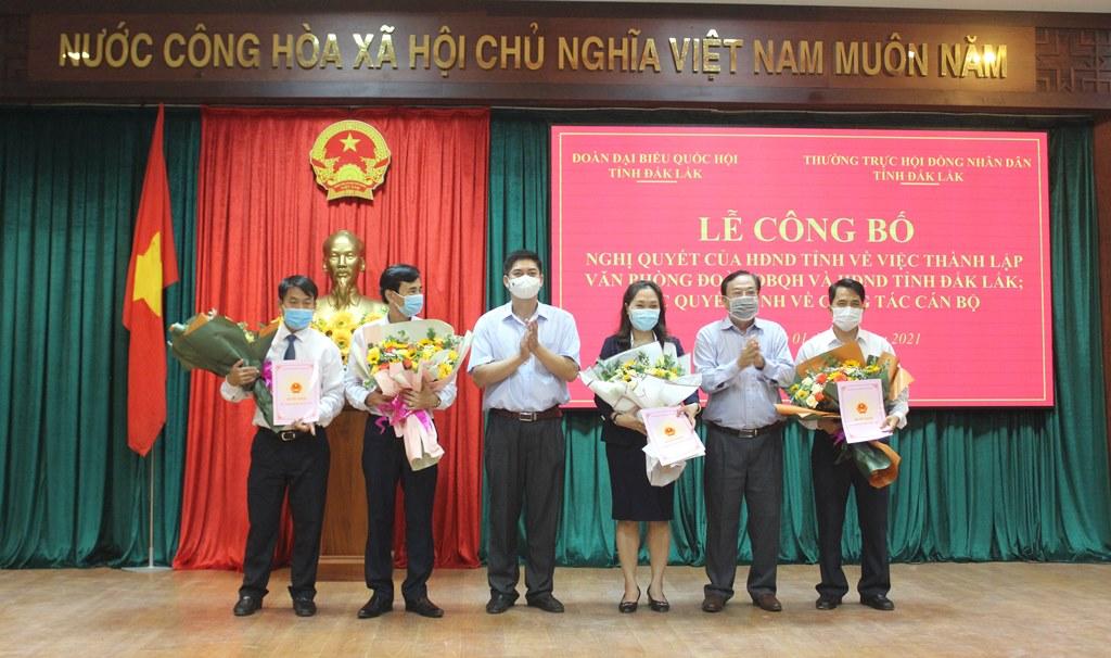 Thành lập Văn phòng Đoàn đại biểu Quốc hội và HĐND tỉnh Đắk Lắk