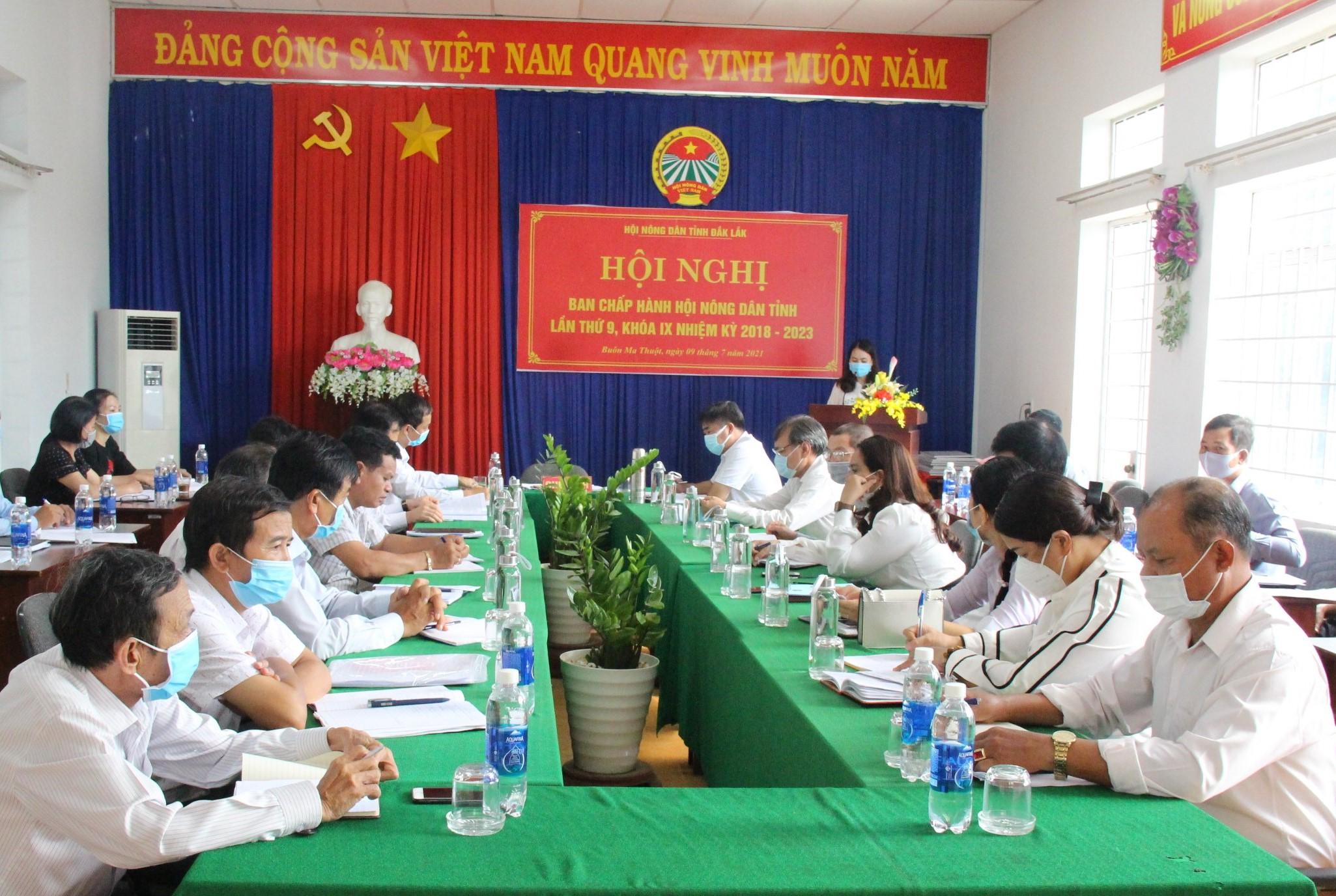 Hội nghị Ban Chấp hành Hội Nông dân tỉnh Đắk Lắk lần thứ 9, khóa IX, nhiệm kỳ 2018-2023