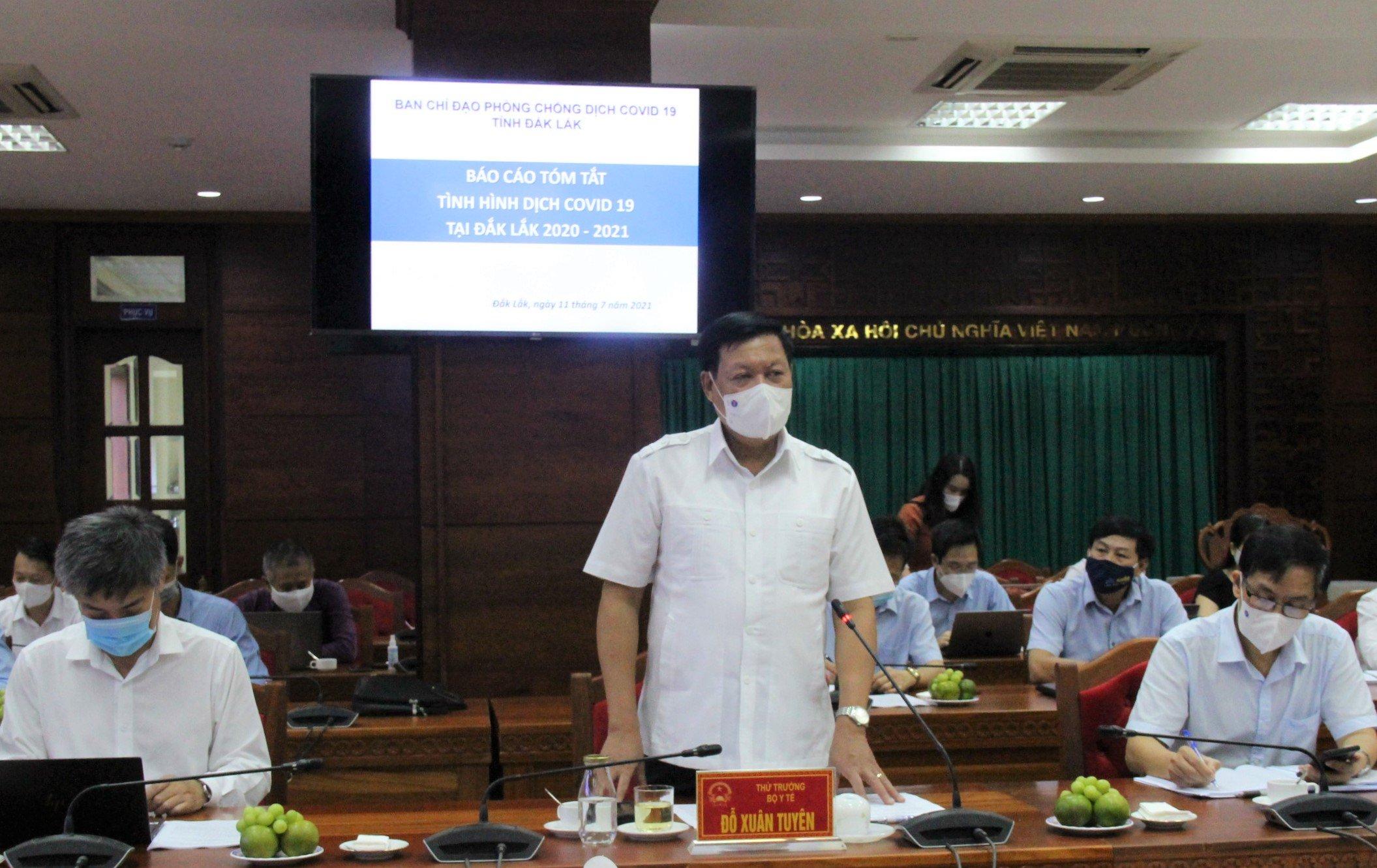 Thứ trưởng Bộ Y tế làm việc với tỉnh Đắk Lắk về công tác phòng chống dịch COVID-19