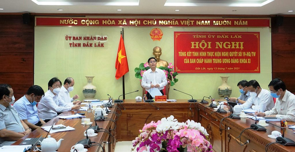 Ban Kinh tế Trung ương làm việc với tỉnh Đắk Lắk về tổng kết thực hiện Nghị quyết số 19-NQ/TW