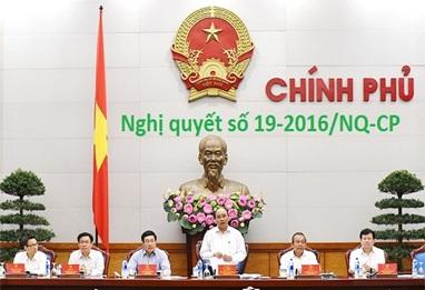 Thực hiện Nghị quyết số 19-2016/NQ-CP của Chính phủ