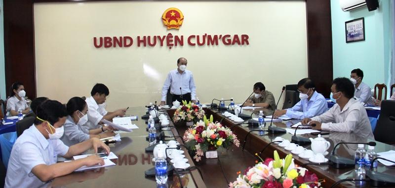 Chủ tịch UBND tỉnh Phạm Ngọc Nghị kiểm tra công tác phòng, chống dịch Covid-19 tại huyện Cư M'gar