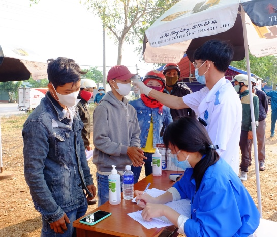 Thông tin các tình nguyện viên đăng ký tham gia phòng chống dịch COVID-19 tại tỉnh