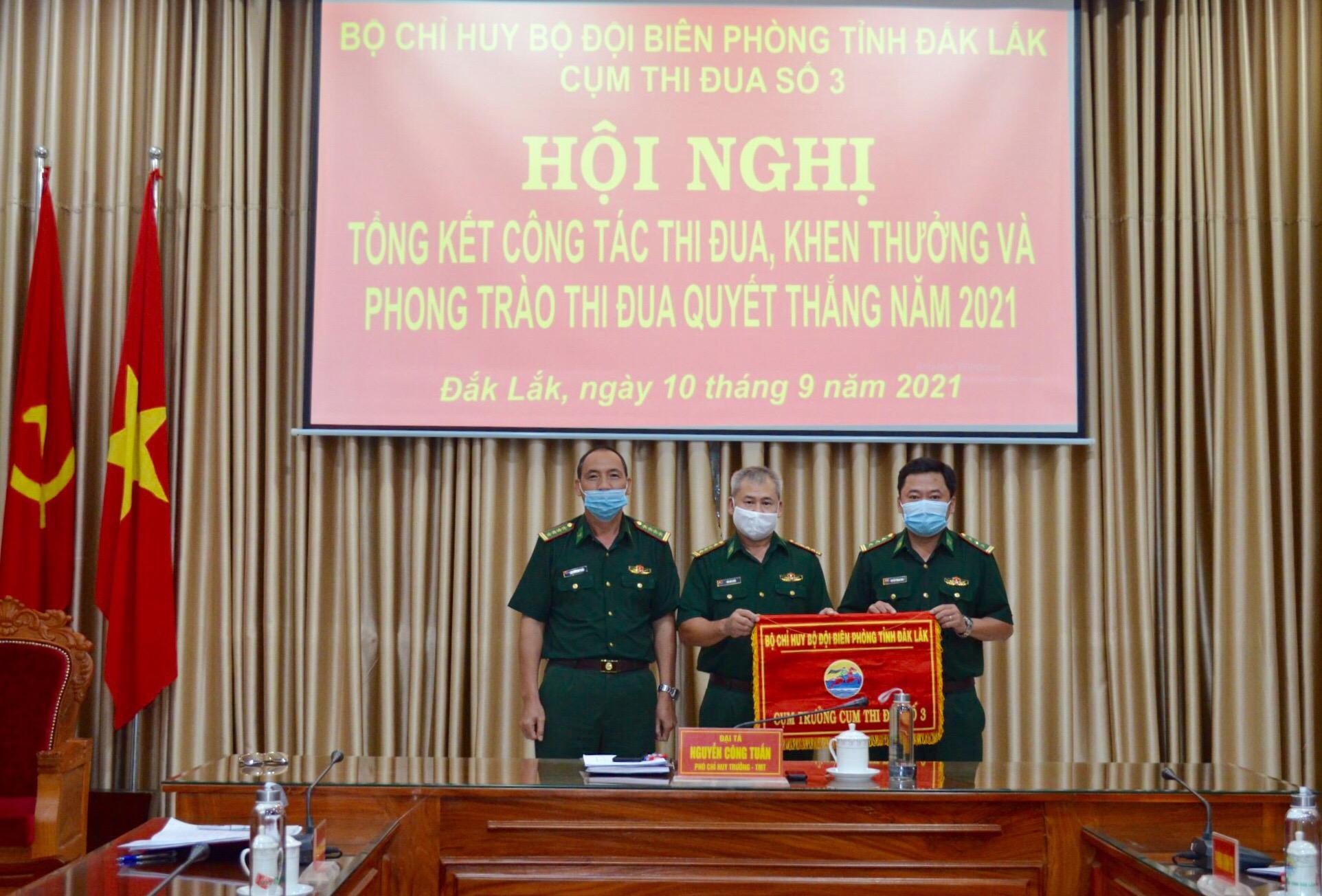 Cụm thi đua số 3, Bộ đội Biên phòng tỉnh Đắk Lắk tổng kết công tác thi đua khen thưởng