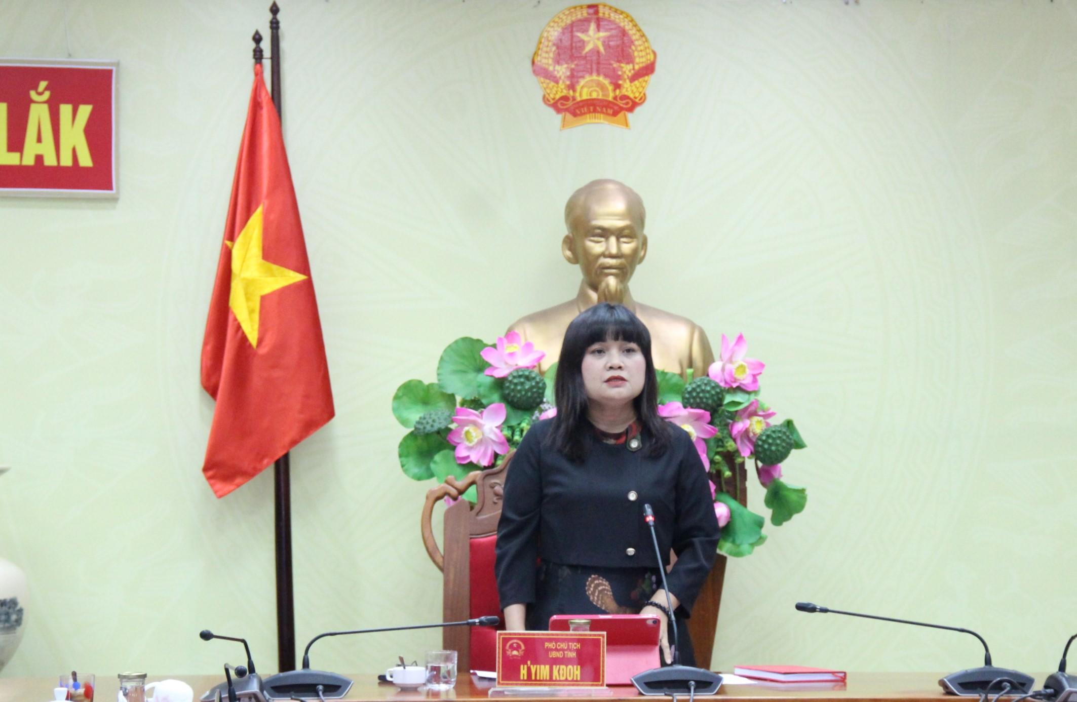 Kết luận của đồng chí H' Yim Kđoh – Phó Chủ tịch UBND tỉnh, Phó Trưởng Ban Thường trực Ban Chỉ đạo phòng, chống dịch COVID-19 tỉnh, Tổ trưởng Tổ công tác đảm bảo Y tế