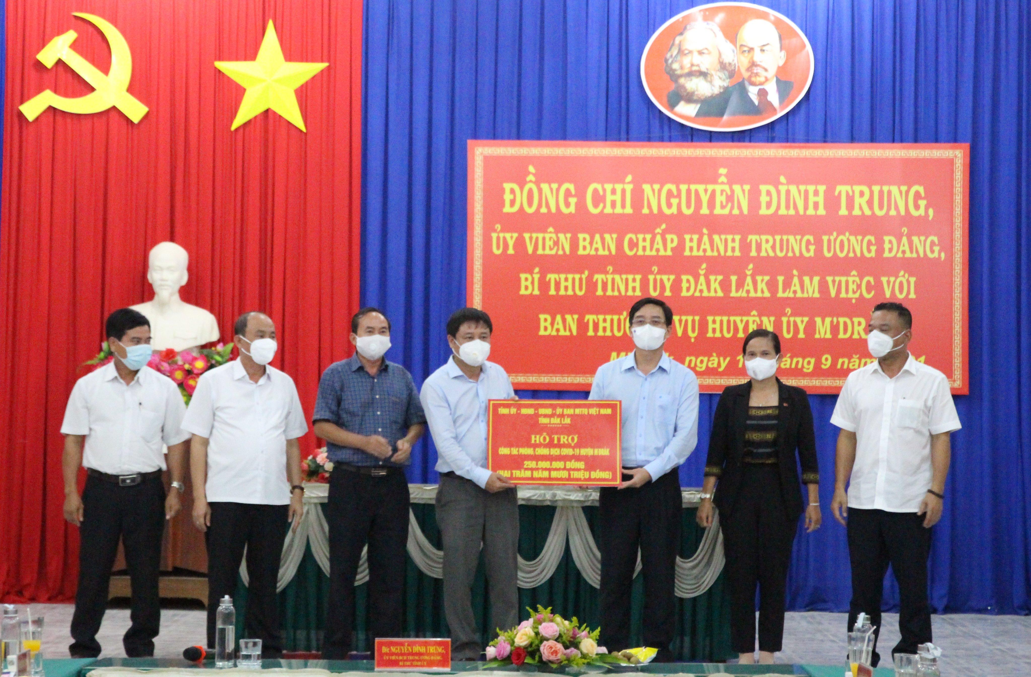Bí thư Tỉnh ủy Nguyễn Đình Trung làm việc với Ban Thường vụ Huyện ủy M'Drắk