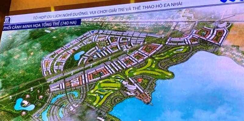 Quyết định điều chỉnh Quy hoạch Tổ hợp Khu du lịch sinh thái, vui chơi giải trí và sân golf hồ Ea Nhái.