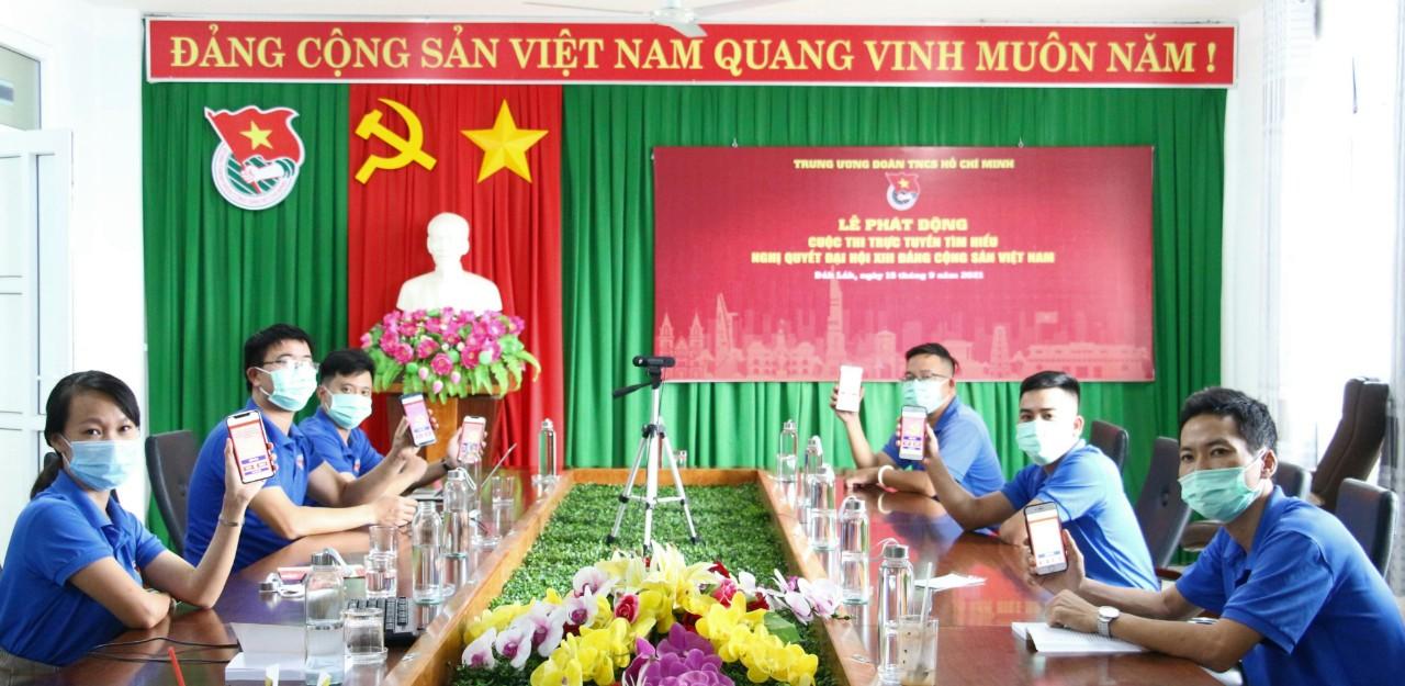 Tuổi trẻ Đắk Lắk tích cực hưởng ứng Cuộc thi trực tuyến Tìm hiểu Nghị quyết Đại hội XIII của Đảng