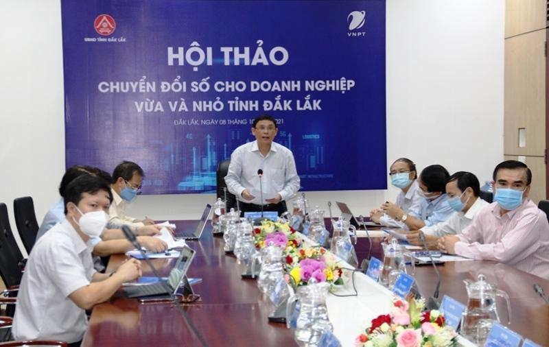 A seminar on digital transformation for medium and small enterprises in Dak Lak Province