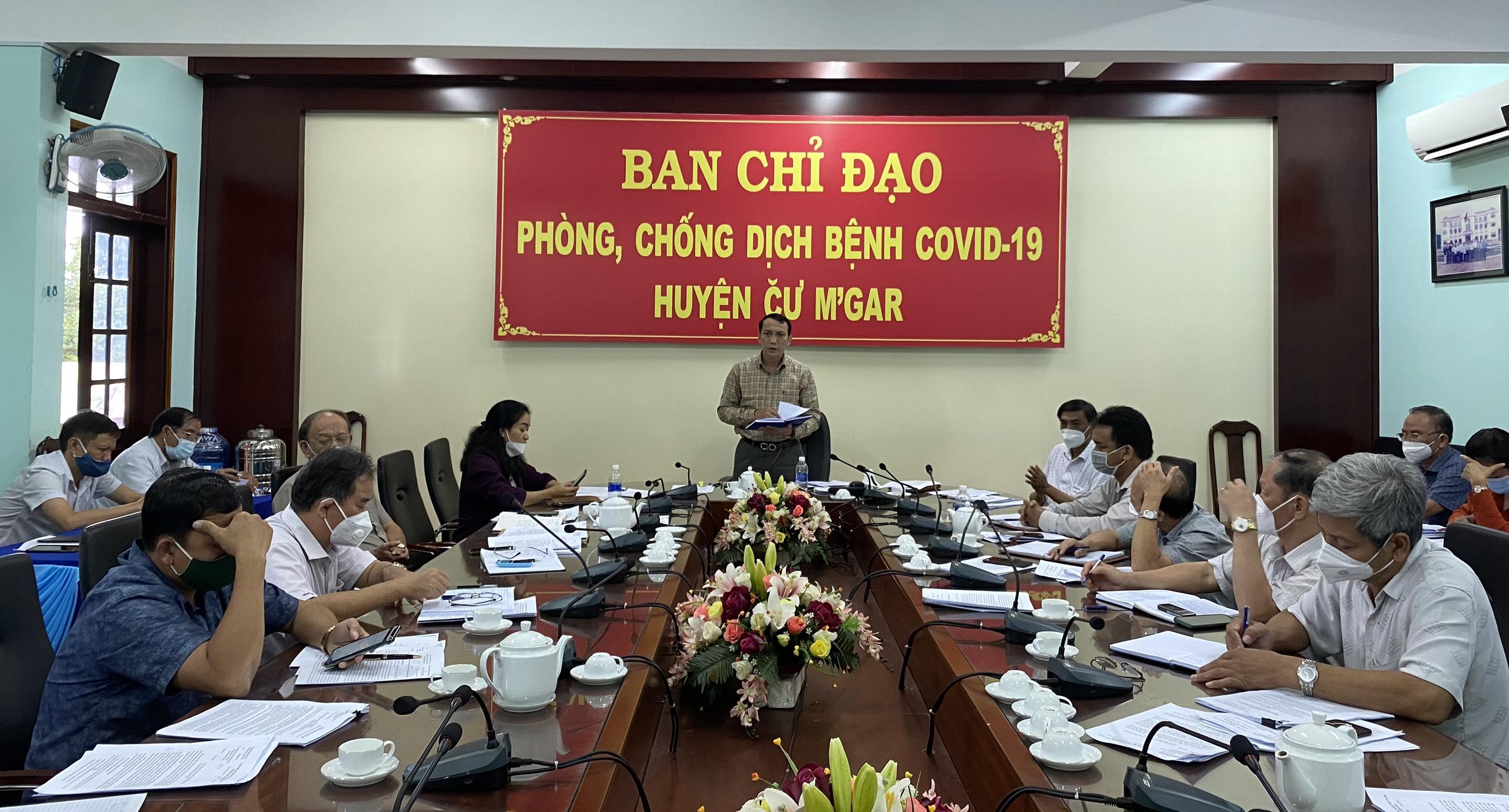 Huyện Cư M'gar triển khai công tác phòng chống dịch Covid – 19