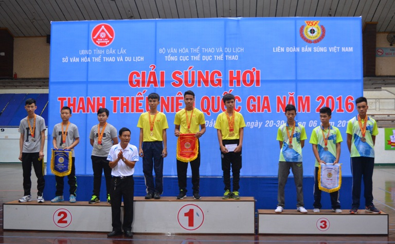 Bế mạc Giải súng hơi Thanh thiếu niên toàn quốc năm 2016: Đoàn VĐV thành phố Hồ Chí Minh giành ngôi Nhất toàn đoàn.