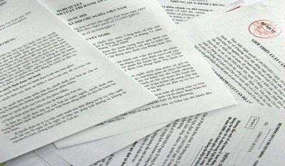 Báo cáo việc rà soát văn bản quy phạm pháp luật hiện hành