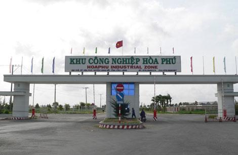 Bồi thường giải phóng mặt bằng diện tích 14,293ha thuộc Khu công nghiệp Hòa Phú