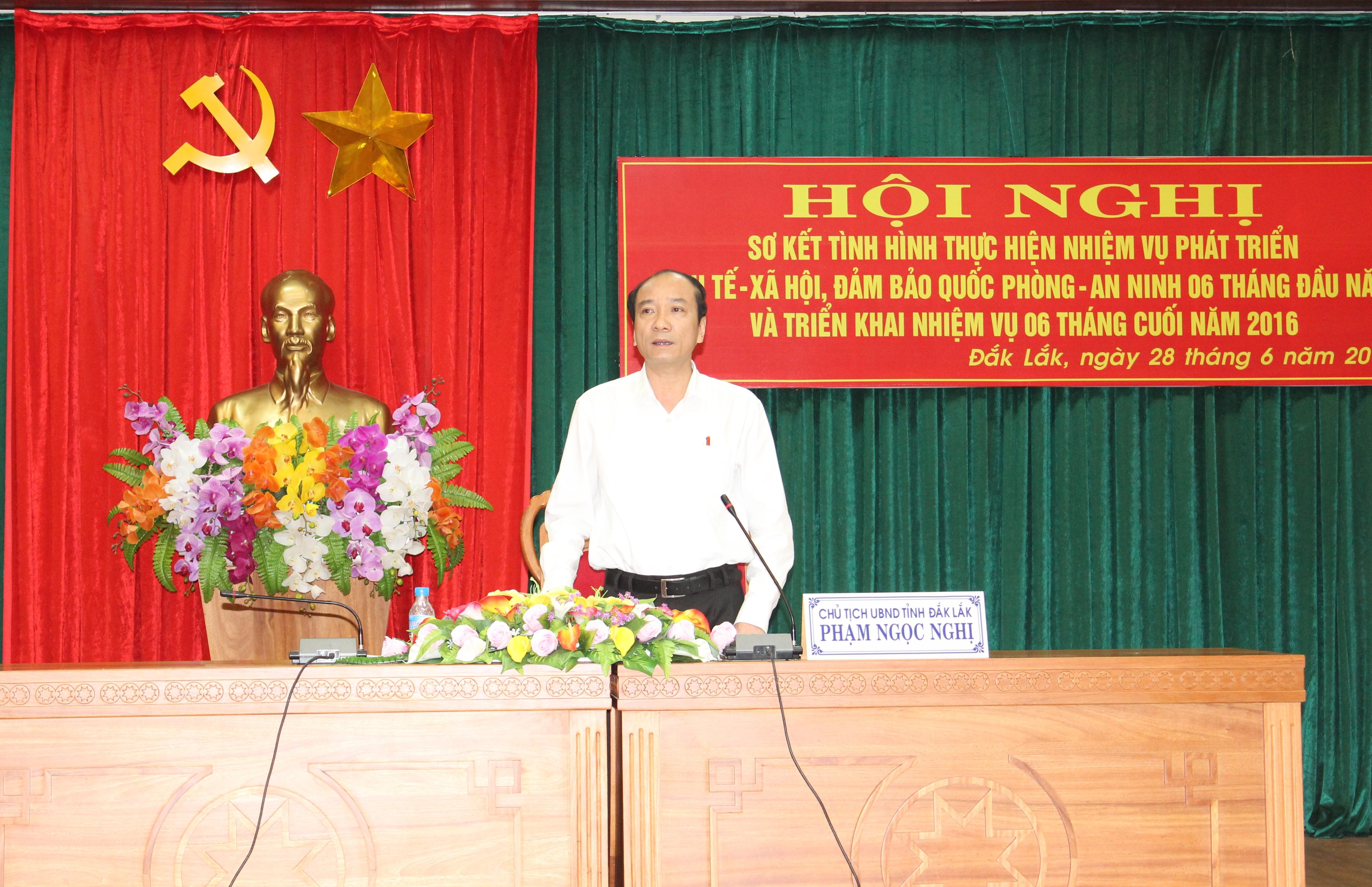 UBND tỉnh Đắk Lắk triển khai nhiệm vụ 6 tháng cuối năm 2016