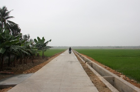 Hỗ trợ kinh phí từ nguồn vốn chương trình mục tiêu quốc gia xây dựng nông thôn mới.
