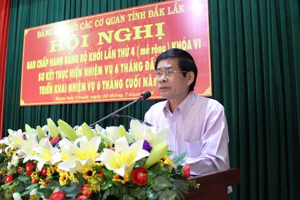 Hội nghị Ban Chấp hành Đảng bộ Khối các cơ quan tỉnh lần thứ 4, khóa VI.