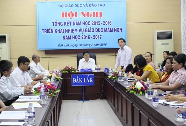 Hội nghị trực tuyến tổng kết năm học 2015-2016 và triển khai nhiệm vụ giáo dục mầm non năm học 2016-2017