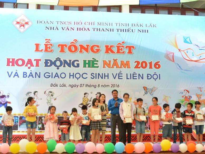 Nhà văn hóa Thanh thiếu nhi tỉnh tổng kết hoạt động hè 2016