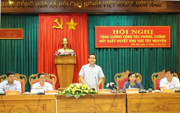 Hội nghị tăng cường công tác phòng chống sốt xuất huyết tại khu vực Tây Nguyên