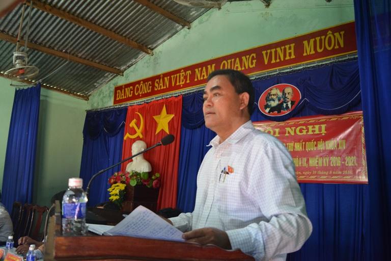 Đoàn Đại biểu Quốc hội tỉnh và HĐND tỉnh tiếp xúc cử tri tại Thị xã Buôn Hồ.