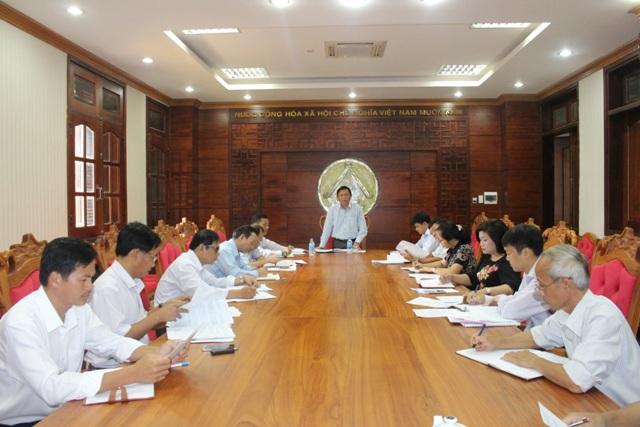 Họp Ban Đổi mới và Phát triển doanh nghiệp tỉnh về chuyển đổi hai công ty lâm nghiệp.