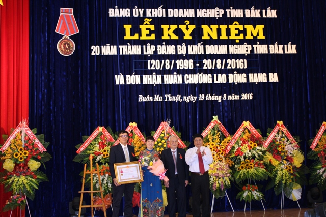 20th anniversary of establishment of Dak Lak Provincial Enterprises Bloc Party Committee (Aug 20, 1996-Aug 20, 2016)