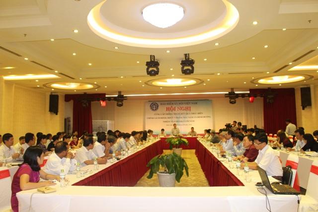Hội nghị cung cấp thông tin về kết quả thực hiện chính sách BHXH, BHYT 7 tháng đầu năm và định hướng hoạt động trong thời gian tới.