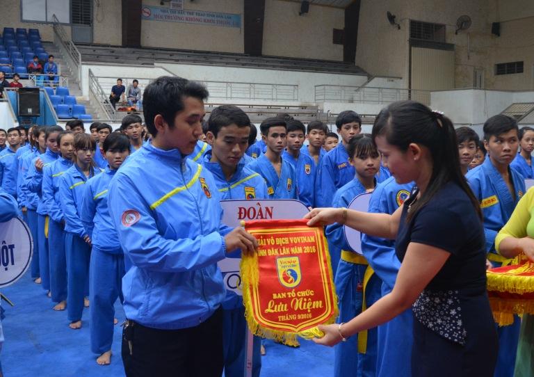 Hơn 200 VĐV tham dự giải vô địch Vovinam tỉnh Đắk Lắk năm 2016.