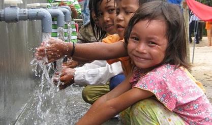 Điều chỉnh thời gian thao diễn hệ thống bể nước cơ động phục vụ chương trình nước sạch nông thôn.