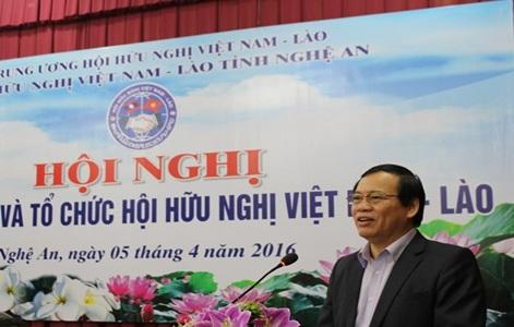 Kinh phí tổ chức Hội nghị giao ban Công tác Hội hữu nghị Việt Nam – Lào 2016.